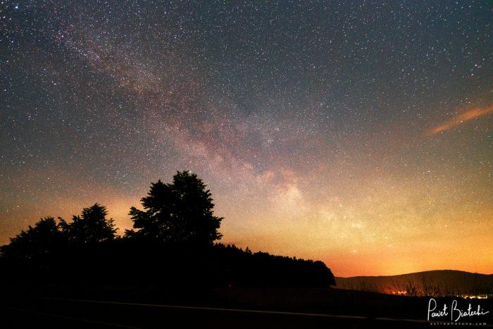 Milky Way near Frýdlant, Czech Republic