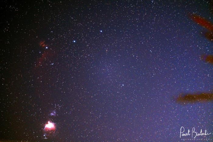 Orion Nebula, Sword, Belt, and Barnards Loop