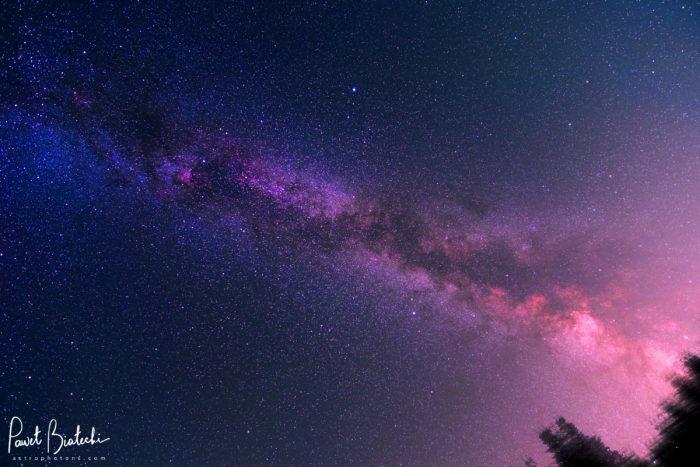 Late Summer Milky Way in Smědava, Czechia